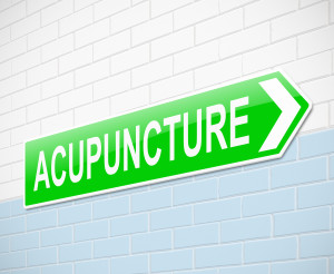 Sign to acupuncture clinic